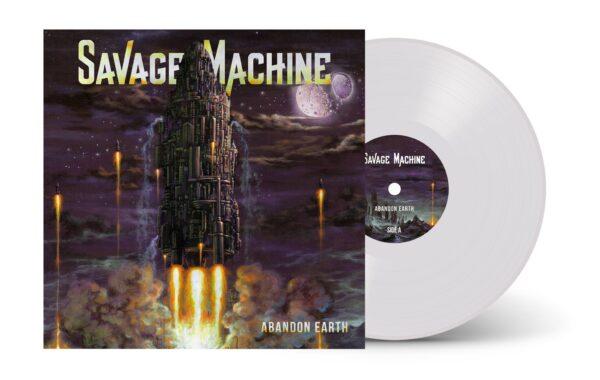 Savage Machine - Abandon Earth, Gatefold, Limited White Vinyl, 100 Copies