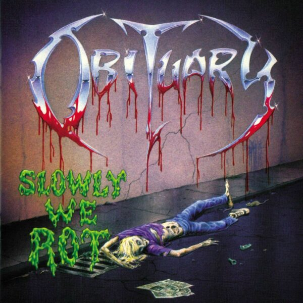 Obituary - Slowly We Rot, Ltd. Solid Yellow & Transparent Green Mix Vinyl, 2000 copies