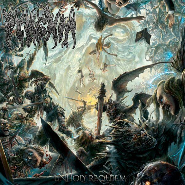 Pyrexia - Unholy Requiem, Blue Marbled Vinyl