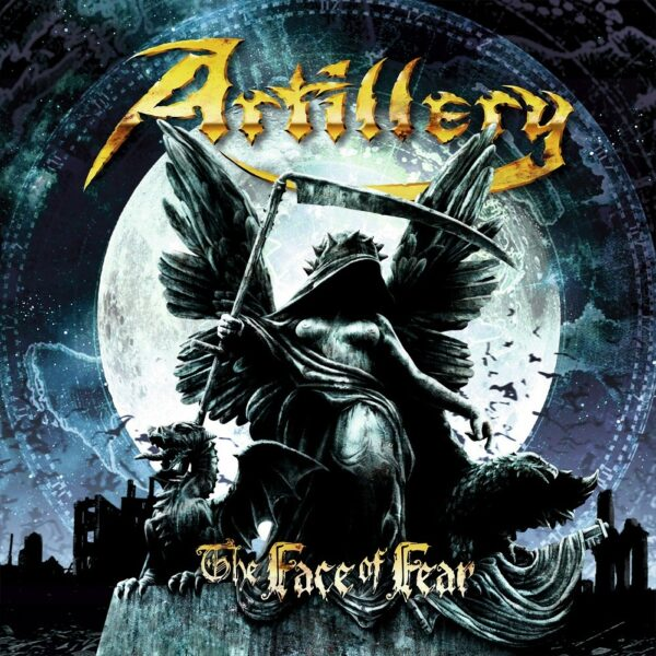 Artillery - The Face Of Fear, Limited Opaque Grey Blue Marbled Vinyl, 300 Copies, Numbered