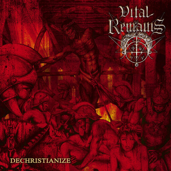 Vital Remains - Dechristianize, 2LP, Gatefold, Limited Gold/Red Swirl Vinyl, 850 Copies, Glossy Cover with Gold Hotfoil 1