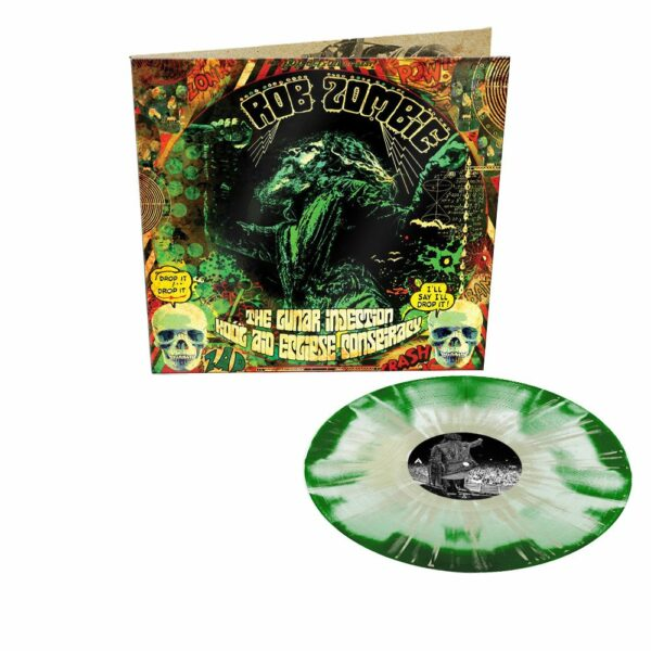 Rob Zombie - The Lunar Injection Kool Aid Eclipse Conspiracy, Gatefold, Limited Green with Glow in the dark splatter, 500 copies 1