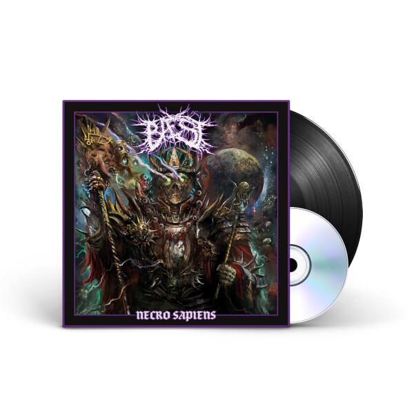 BAEST - Necro Sapiens, Black Vinyl, SIGNED!, Incl CD 1
